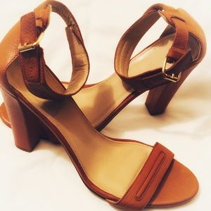 J. Crew Italian leather High Heeled sandals.